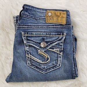 Silver Jeans Suki Surplus flap pocket size 27